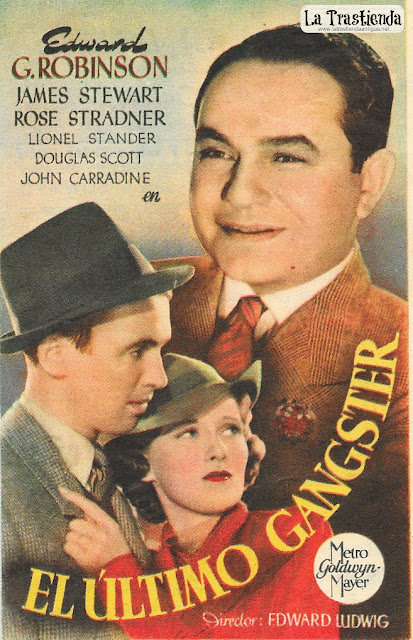 El Ultimo Gánster - Programa de Cine - Edward G. Robinson - James Stewart