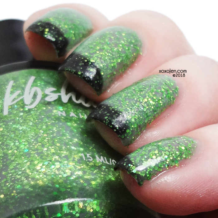 xoxoJen's swatch of KBShimmer Resting Witch Face