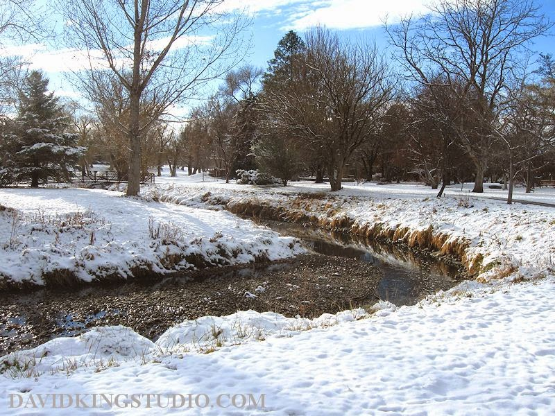 photograph winter Murray Park Utah creek snow