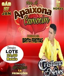 CRISTIANO NEVES, 27 JAN, NA CHURRASCARIA BRITO FREITAS