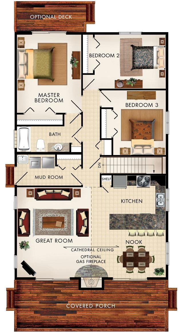 Plano de caba a de 133 m2 planos de casas gratis y - Casas unifamiliares planos ...