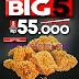 Promo KFC Terbaru Paket BIG 5 Harga Rp 55.000 Untuk 5 Pcs Ayam Periode 27 - 31 Juli 2017