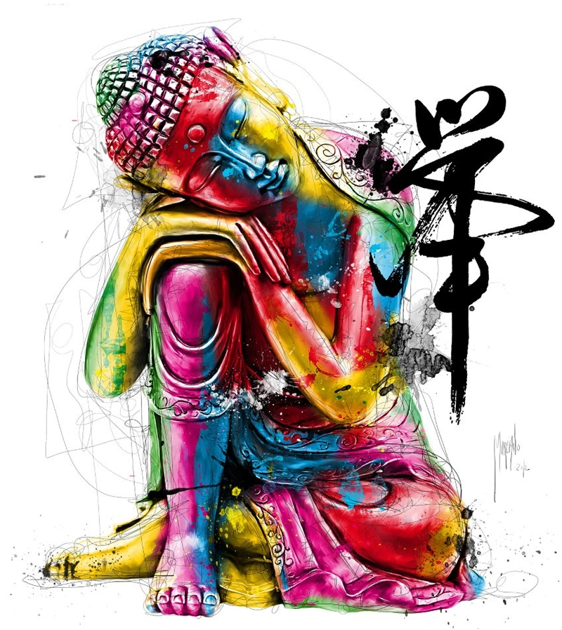 Feng Shui Buddha | Patrice Murciano 1969 | French Figurative painter | Pop Art portrait