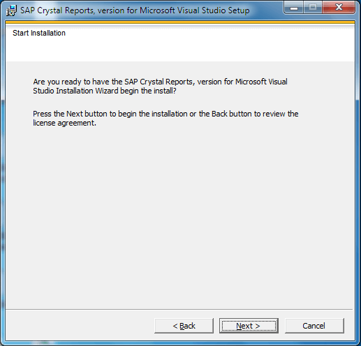 install crystal report for visual studio