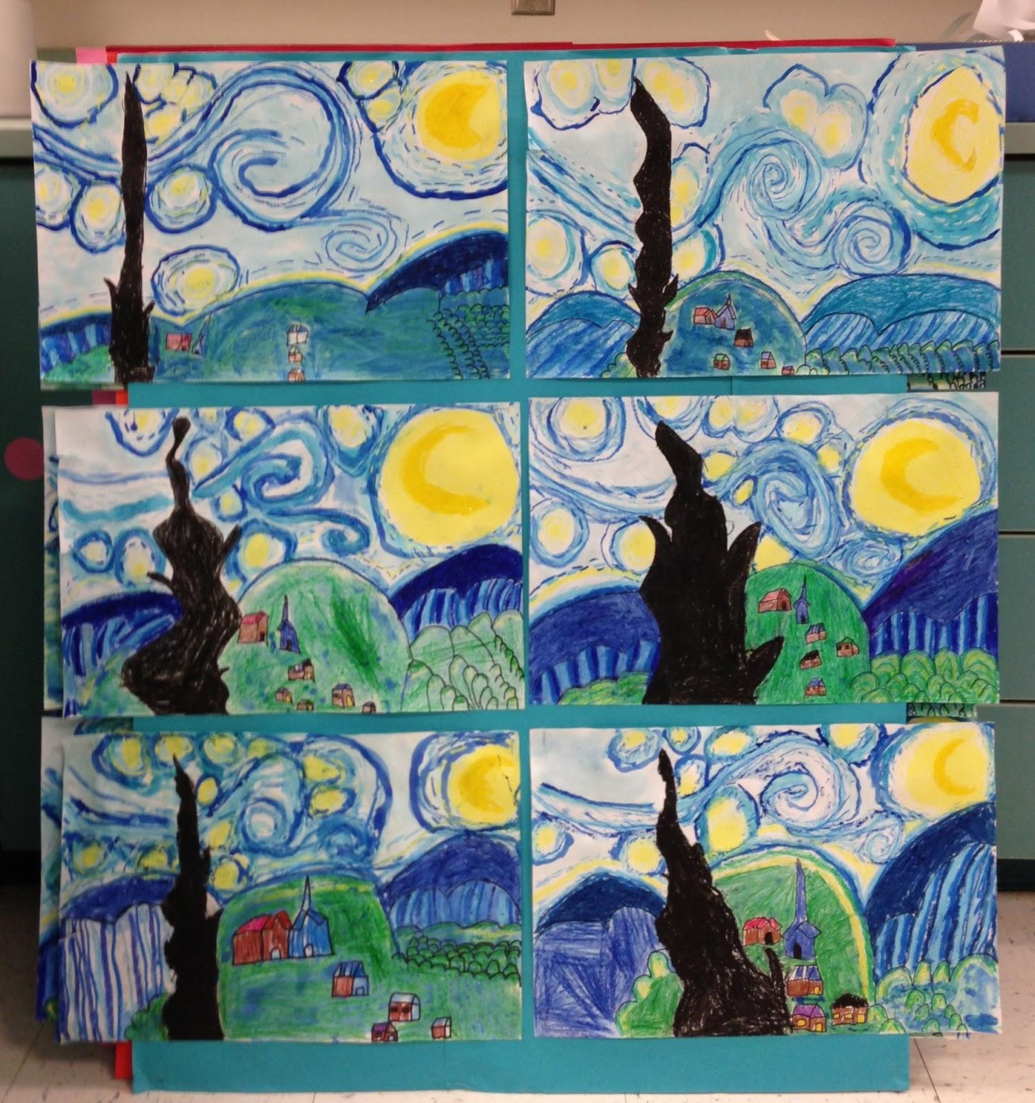 Apex Elementary Art A Very Starry Night