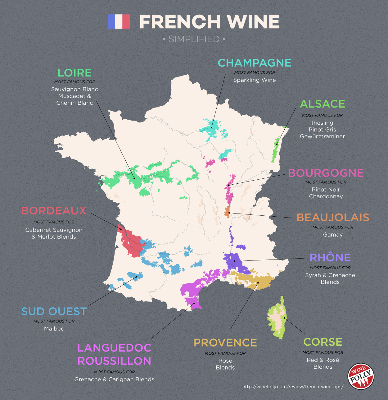 french wine regions map simplified 1