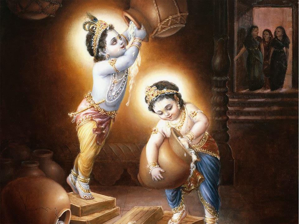 Mahabharat-Krishna-Lila-Dengan-Teman-HD-Wallpaper