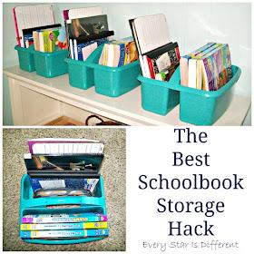 The Best Schoolbook Storage Hack