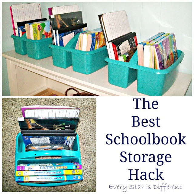 The Best Schoolbook Storage Hack