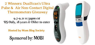 Enter the MOBI Digital Thermometers Giveaway. Ends 9/21