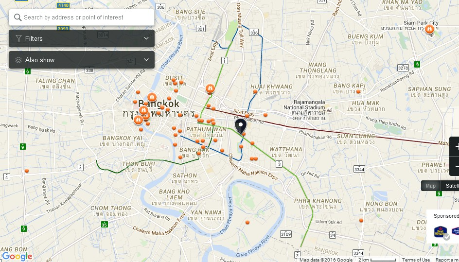 Muangboran Ancient City Bangkok Map Tourist Attractions in – Tourist Attractions Map In Thailand