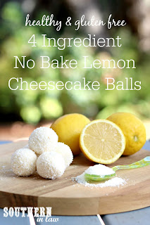 4 Ingredient No Bake Lemon Cheesecake Bliss Balls Recipe