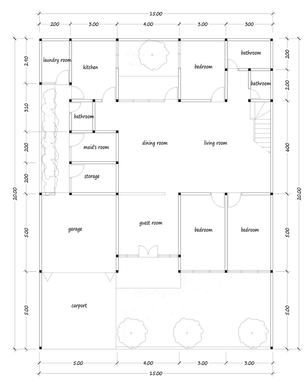 House plans for 400 square meters for 500 square meters house design