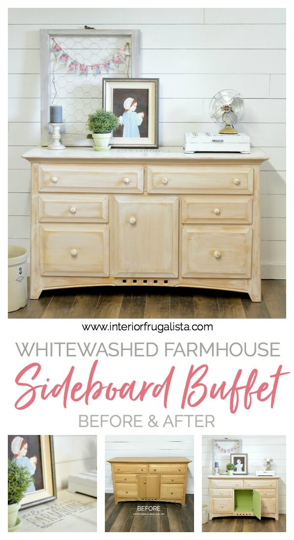 Farmhouse White Sideboard Buffet