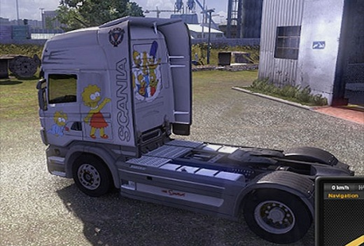 Simpson Scania Skin back view