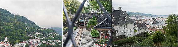 Detalles del monte Floyen. Hurtigruten dia 1: Bergen