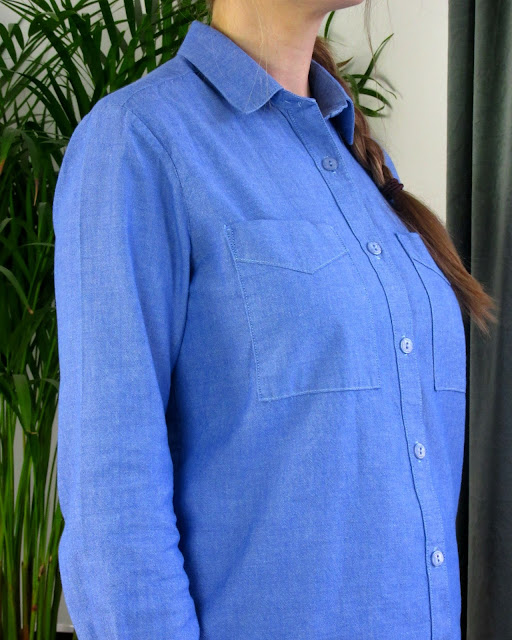 Grainline Archer shirt detail via SEWN sewing blog