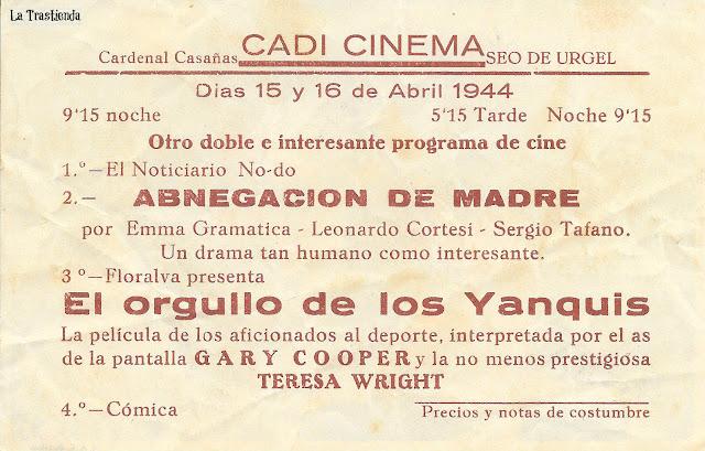 El Orgullo de los Yanquis - Programa de Cine - Gary Cooper - Teresa Wright