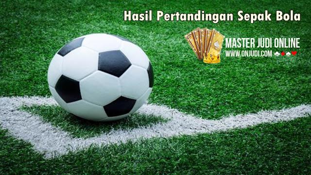 Hasil Pertandingan Sepakbola 18 - 19 Juni 2018