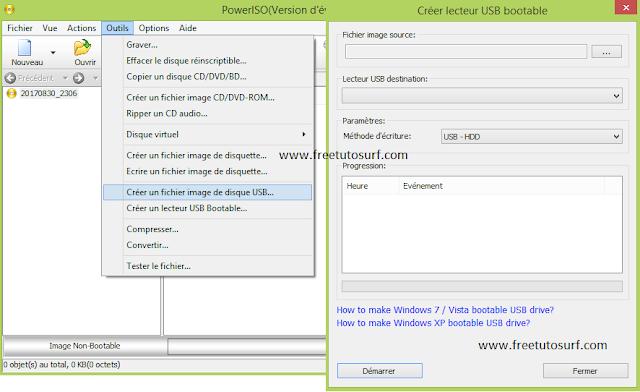 Crée un USB Bootable avec power iso, comment utiliser power iso, bootable USB, booté clé USB