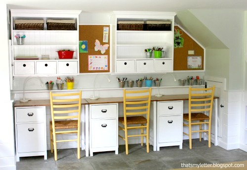 kids playroom wall hutch