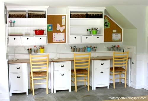 Kids Playroom Wall Hutch