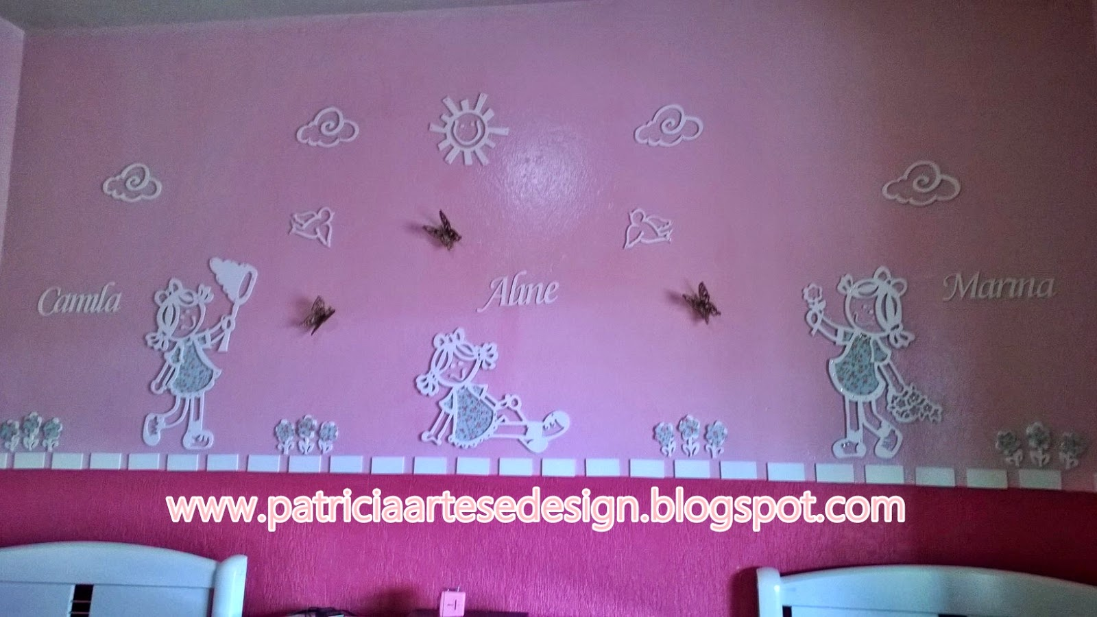 Painel para quarto de meninas, Painel em Mdf vazado, Painel para quarto de bebê, Decoração para quarto de Bebê, Painel Bonecas