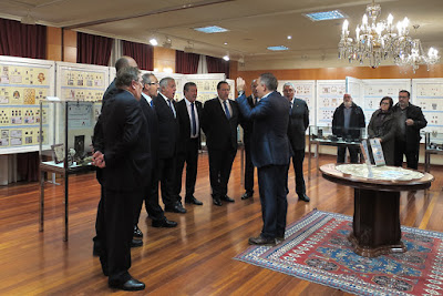 Inauguración exposición filatelia y coleccionismo Centro Asturiano 2017. Coro Peña Roballera