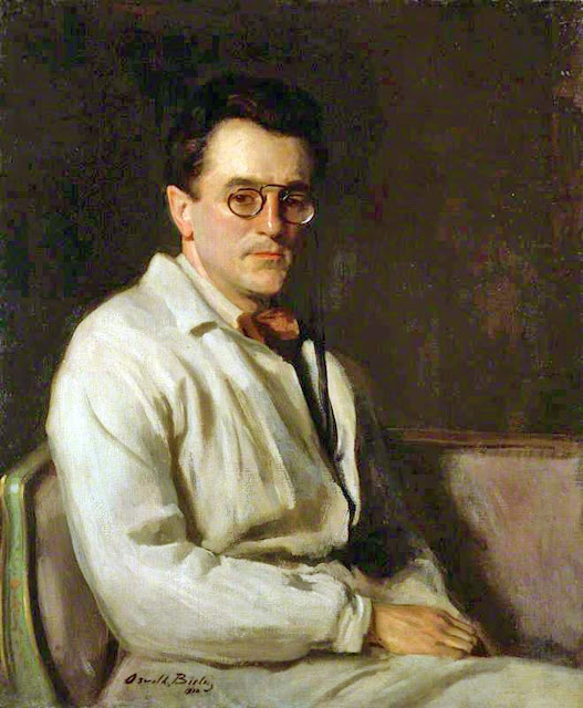 Portrait of Sir Gerald Kelly, Oswald Birley, Self Portrait, Art Gallery, Oswald Birley, Portraits of Painters, Fine arts,  Oswald Hornby Joseph Birley, Self-Portraits, Painter Oswald Birley