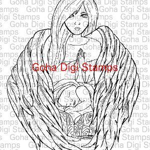 Angel digital image