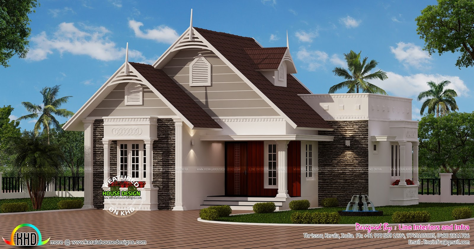 Small european style house kerala home design and floor for European homes