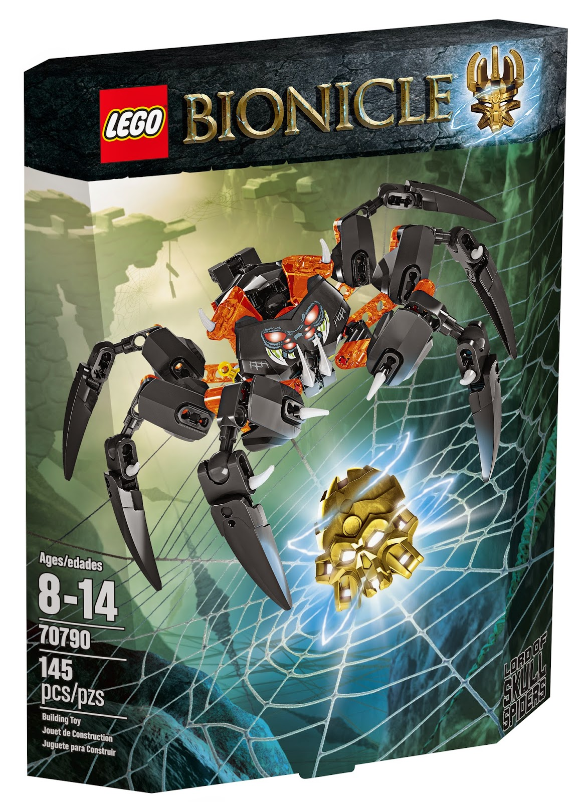New Bionicle LEGO set 70790 Lord Of Skull Spiders