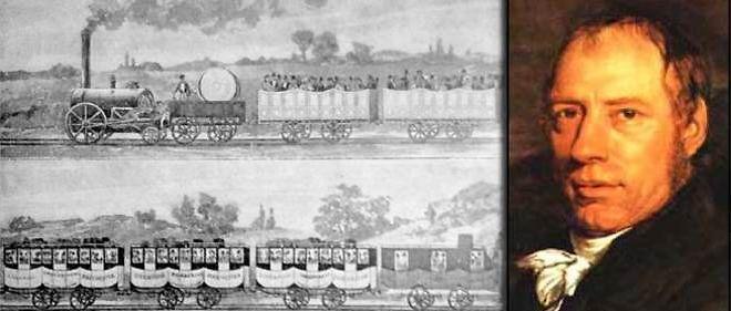 premier train au monde