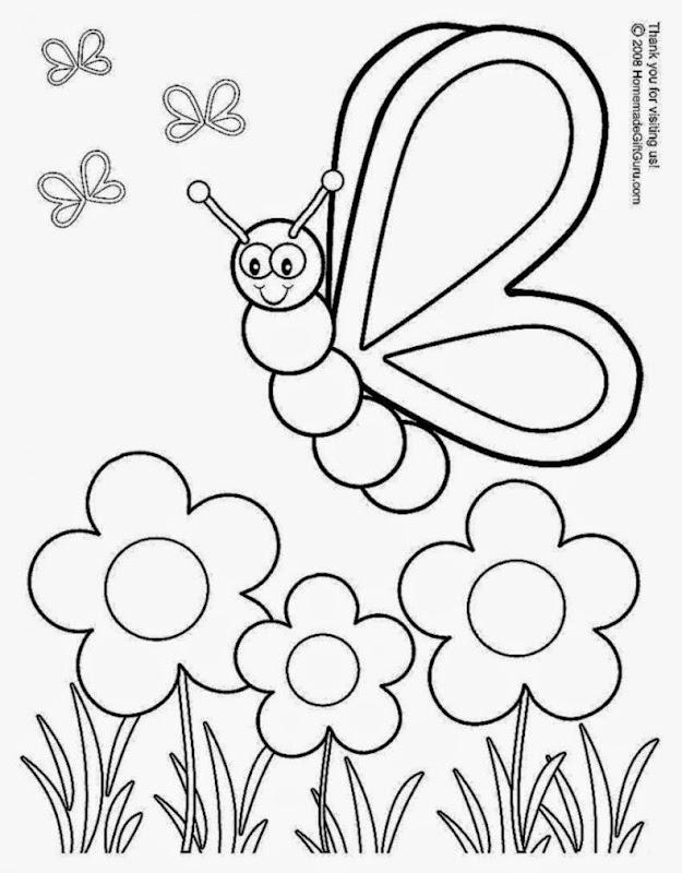Printable spring coloring pages free coloring sheet for Free spring color pages