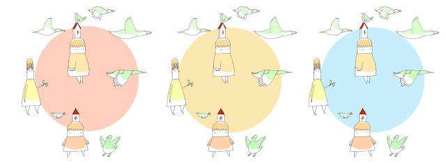 disegno di bambine e papere in girotodo