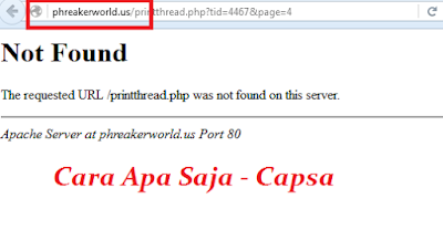 Website Phreaker World Down
