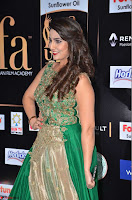 Manjusha in Beautiful Sleeveless Green Anarkali dress at IIFA Utsavam Awards 33.JPG