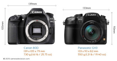 Canon EOS 80D, Panasonic GH3, Canon vs Panasonic, Full-HD video, mirrorless camera, DSLR camera, Canon DSLR, mirrorless vs DSLR