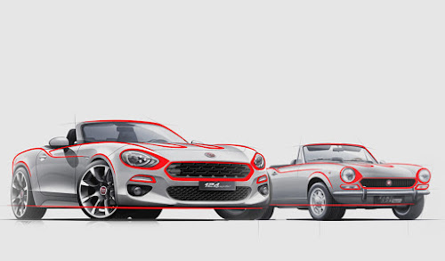 Fiat 124 Spider Design Sketch