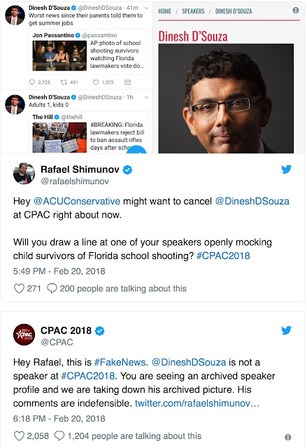 CPAC wants nothing but distance between itself and Dinesh D'Souza.