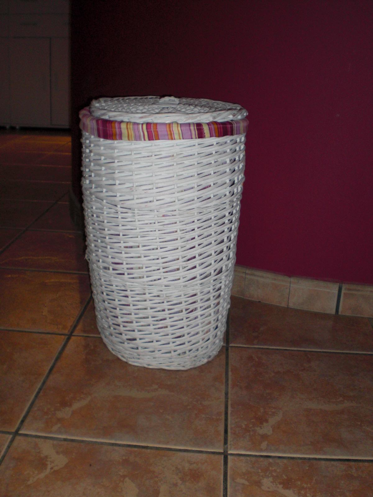 Myself manualidades cesta para ropa - Cestas de papel periodico ...