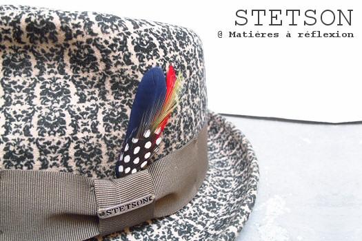 Chapeau Stetson à motif imprimé