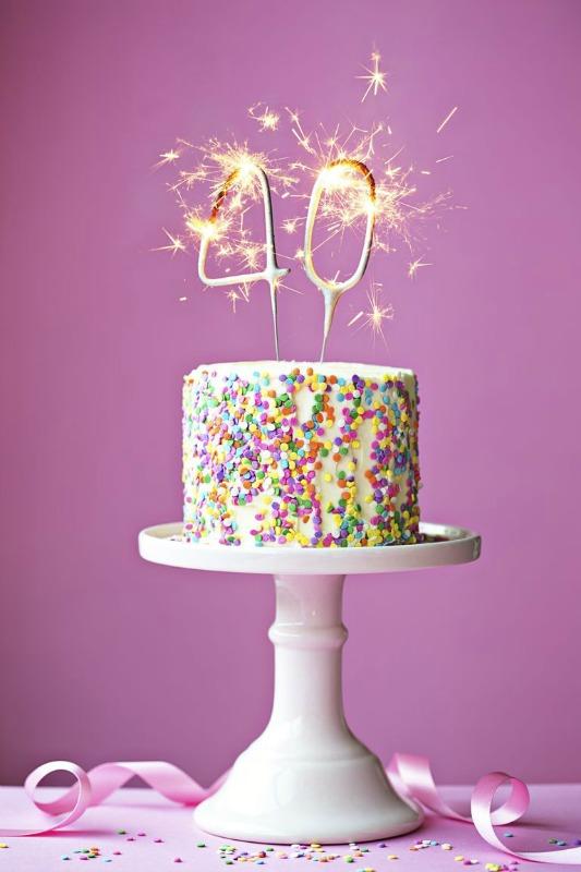 40th Birthday Cake - Ioanna's Notebook