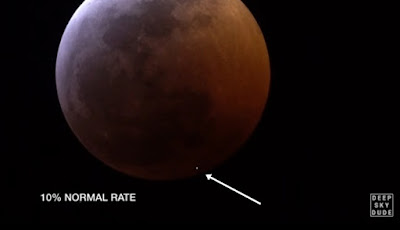 Misteri Munculnya Kilatan Cahaya Saat Gerhana Bulan Darah