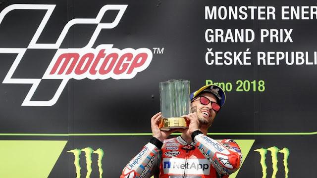 Klasemen MotoGP Usai Dovizioso Menang di Republik Ceko