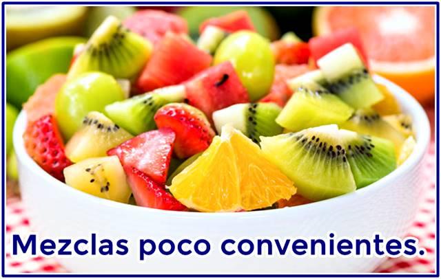 Mezclas entre frutas que debes evitar