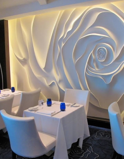 wall art: decorative 3D wall panels for restaurants wall decor