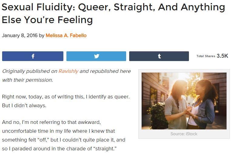Anti heterosexual comments