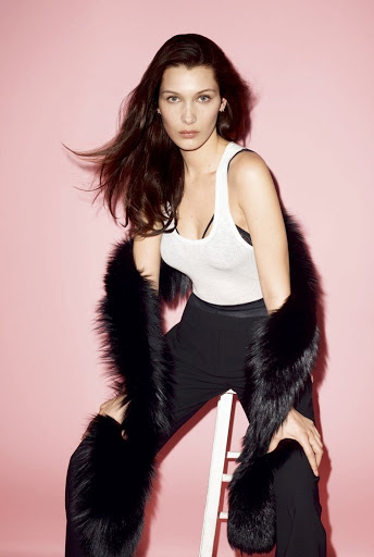 bella hadid sexy models w magazine photo shoot