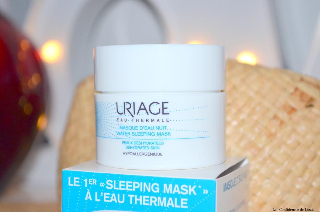 uriage - soin de parapharmacie - soin de pharmacie - peau hydratee - peau revigoree - eau thermale - masque desalterant - sleeping mask